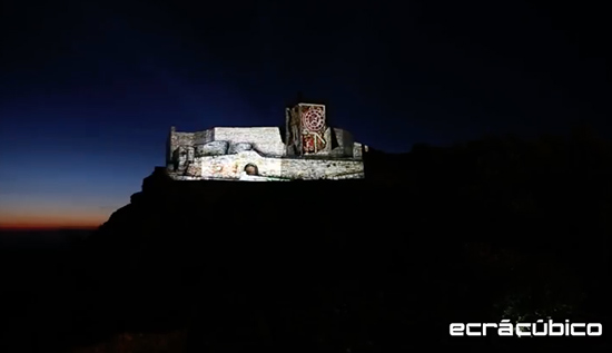 Video Mapping no Castelo de Marvão
